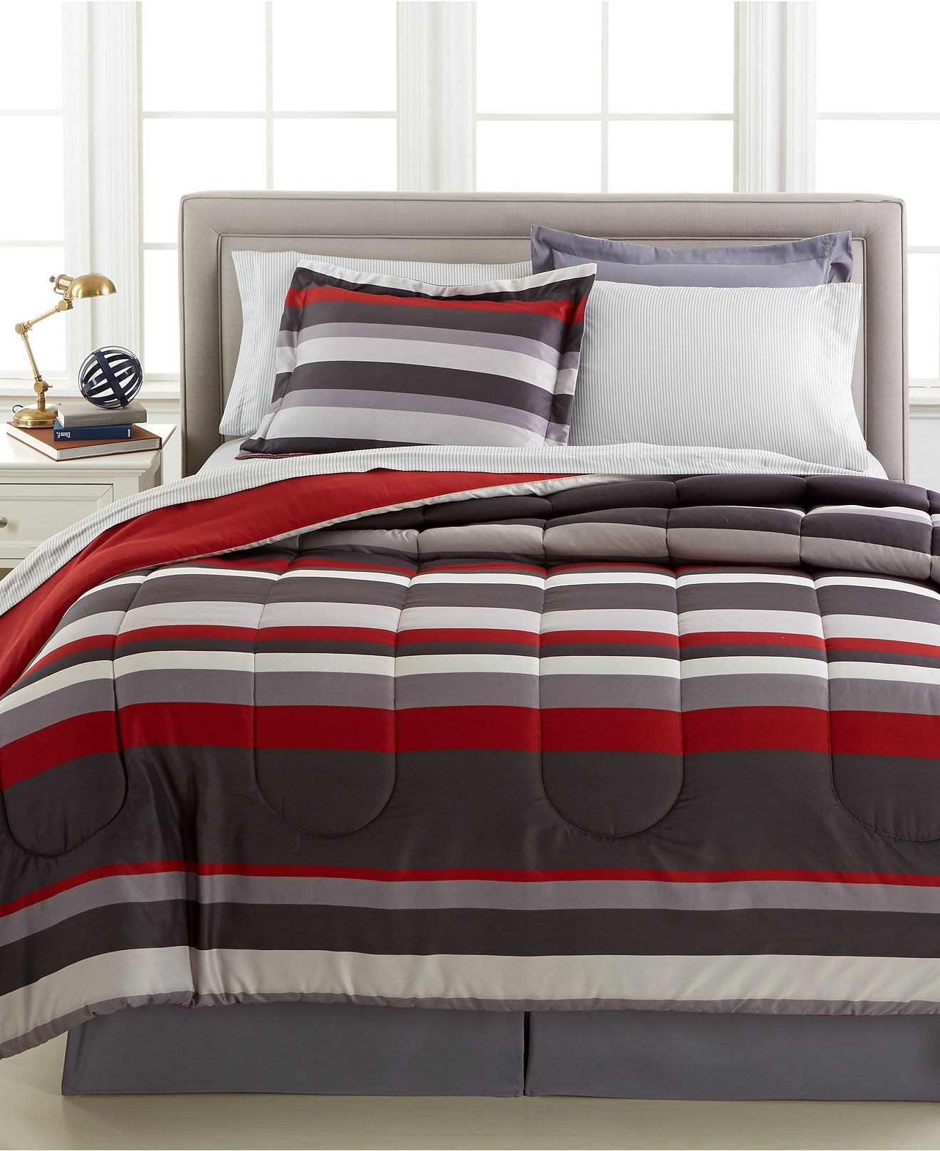 king full of black gray sets size comforter bedspread set red mouse decoration and