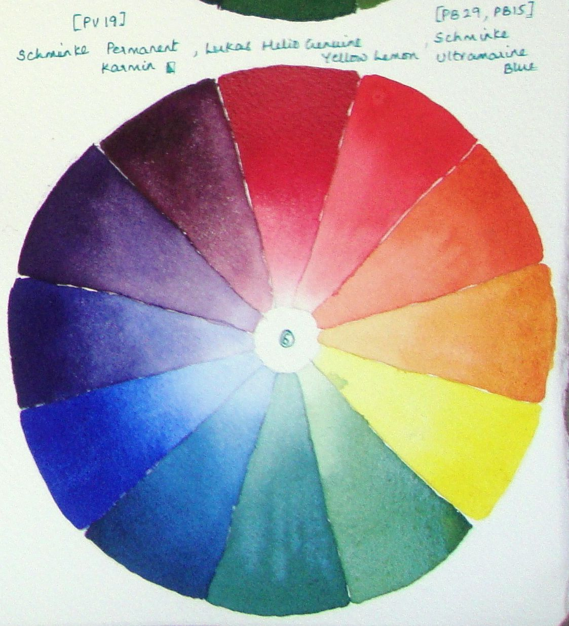 Color Wheel 6 Color Wheel Color Mixing Watercolor Journal