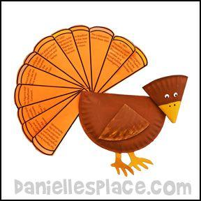 Thanksgiving Craft - Turkey Craft - The Story of Thanksgiving Paper Plate Turkey Craft from   sc 1 st  Pinterest & Thanksgiving Craft - Turkey Craft - The Story of Thanksgiving Paper ...