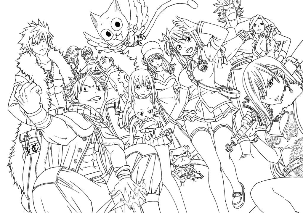 Fairy Tail Lineart By Writtenprodigy Coloriage Manga Coloriage