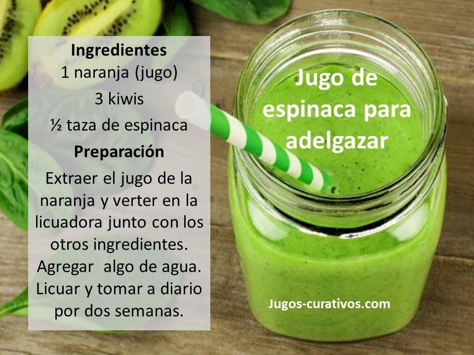 Recetas de jugos nutritivos para adelgazar