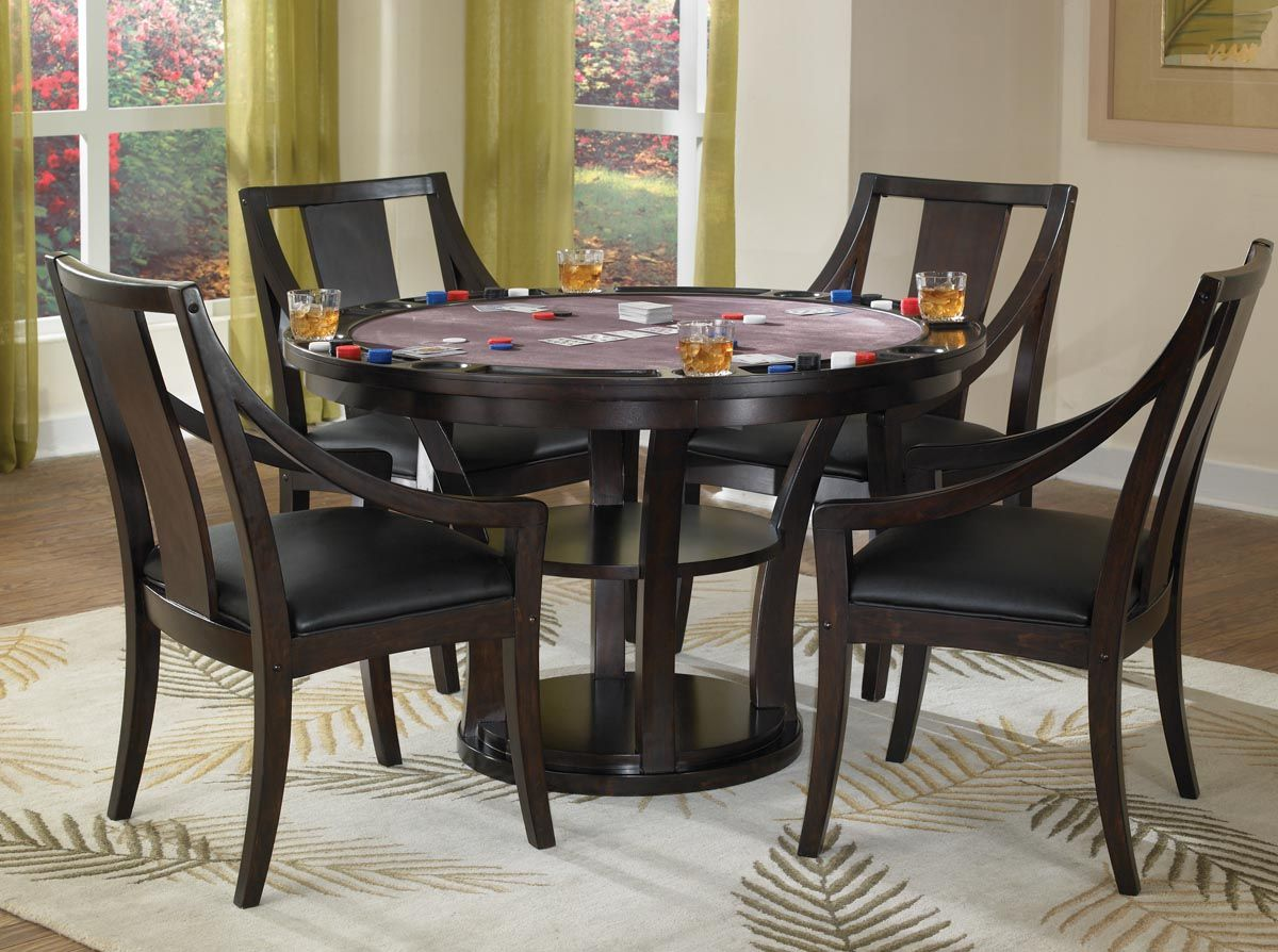 Home Styles Rio Vista Game Table Set Espresso Dining Table