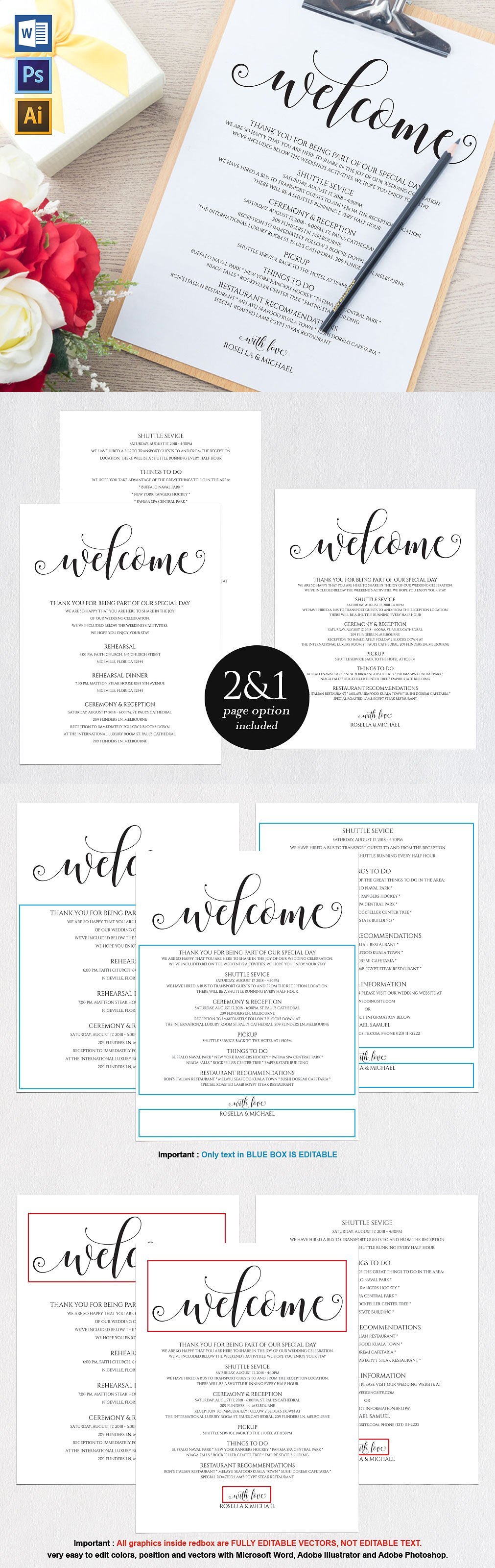 Wedding Itinerary Wpc Templates Ai Eps Psd  Invitation