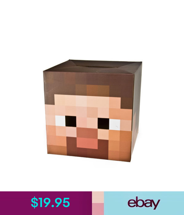 Accessories Minecraft 12 Steve Head Mask Costume Gamer Officially Licensed Authentic Ebay Fashion Minecraft Steve Head Minecraft Steve Ebay