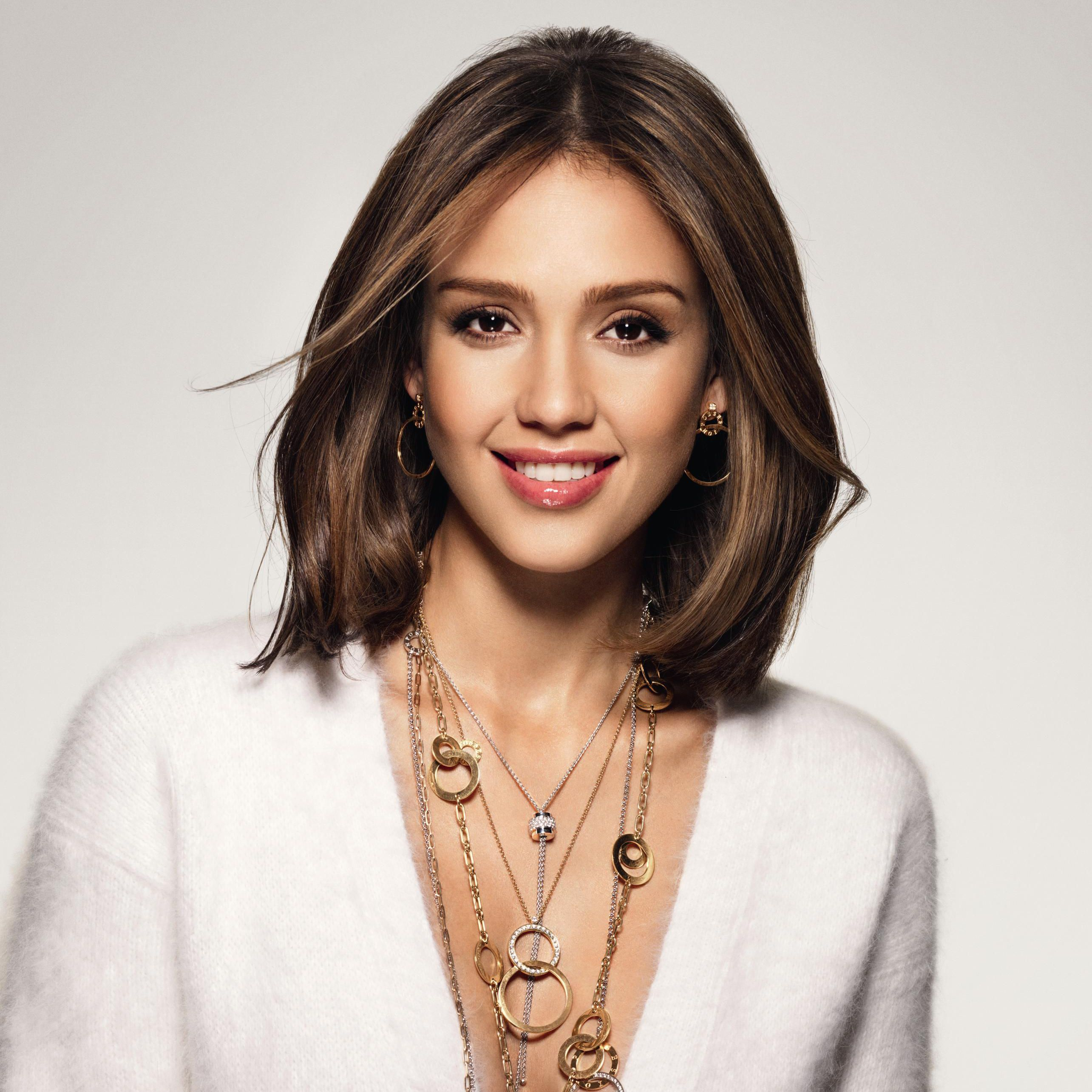 Jessica alba women fame celebrity pinterest long bob and bobs