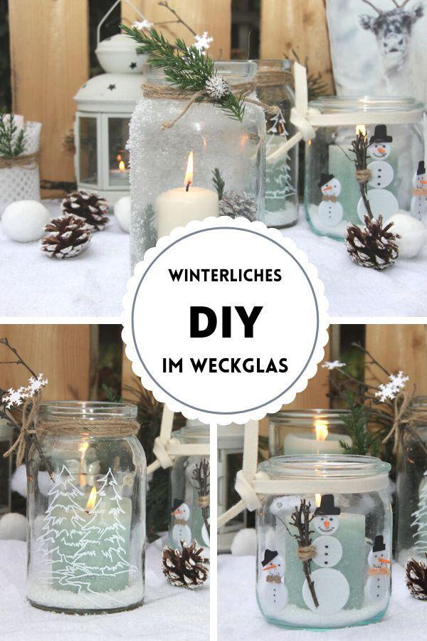 DIY – Winterliche Deko mit Gläsern im Scandi Style