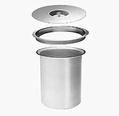 Wesco Ergomaster 5 L - Aluminium - Einbau in Arbeitsplatte Bio - küchen mülleimer einbau