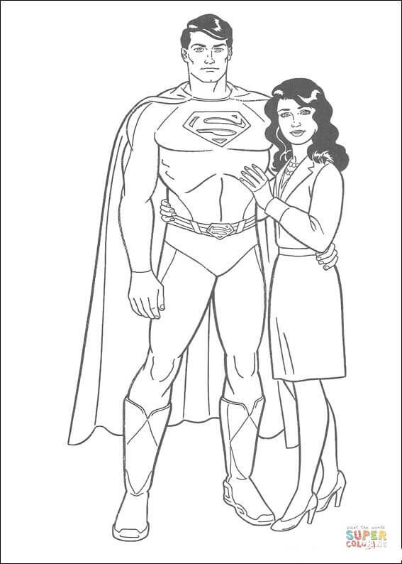 Superman With Lois Lane Superman Coloring Pages Unicorn Coloring Pages Coloring Pictures