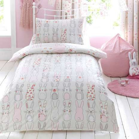 Dunelm Kids Katy Rabbit Duvet Cover Set