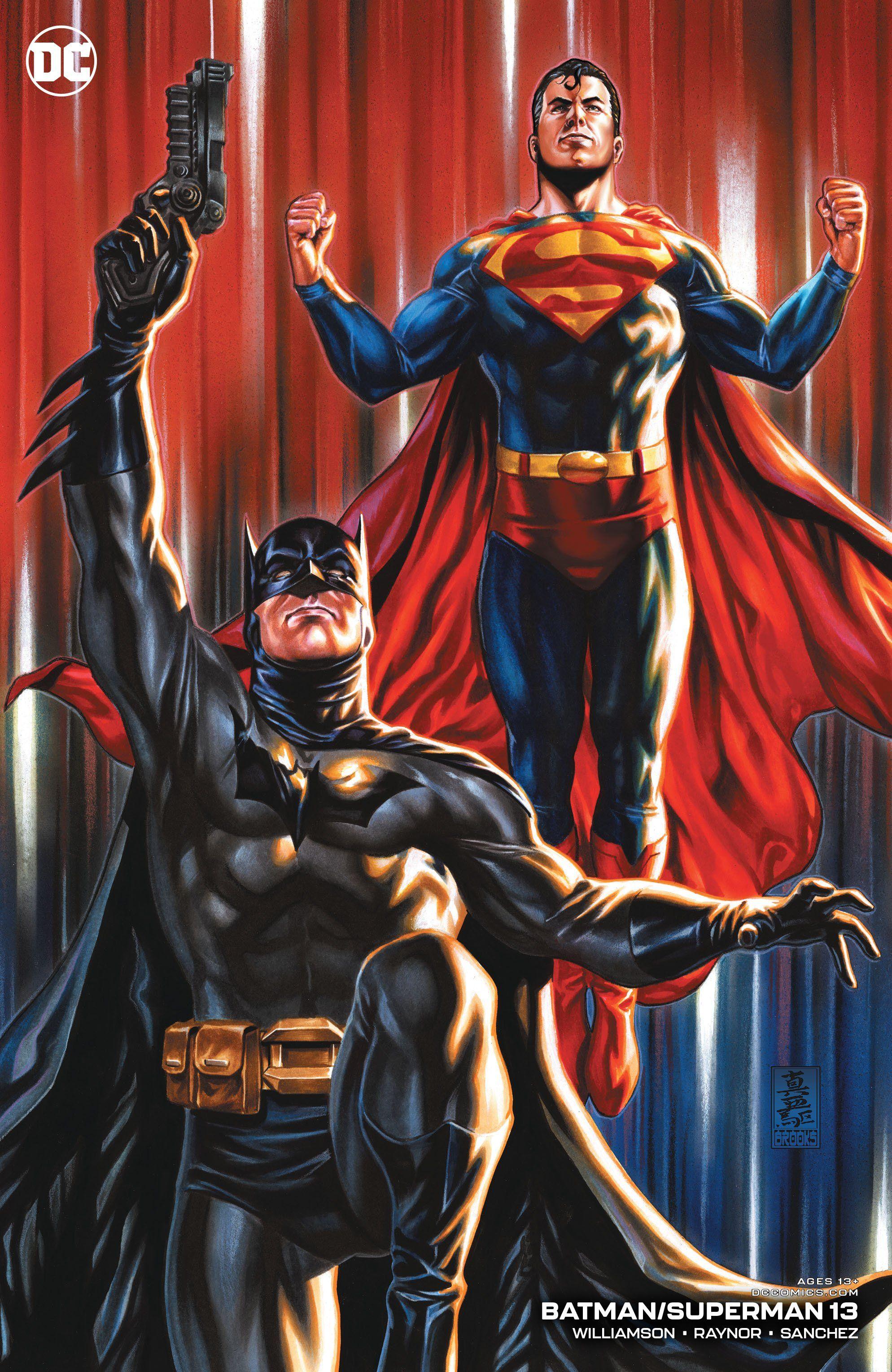 Batman Superman 13 Mark Brooks Cover In 2021 Batman And Superman Batman Dc Comics Artwork