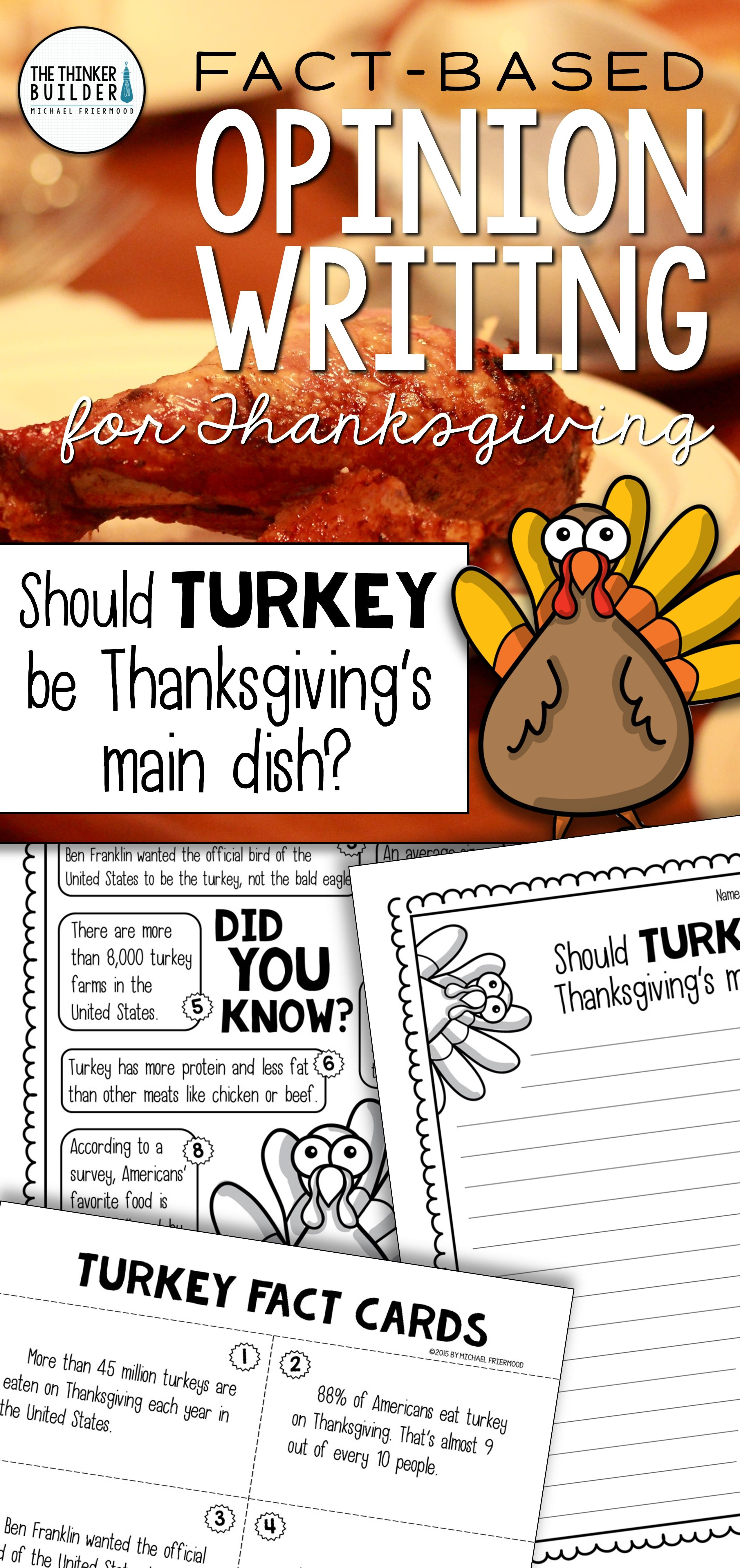 Fact Based Opinion Writing For Thanksgiving Question 1