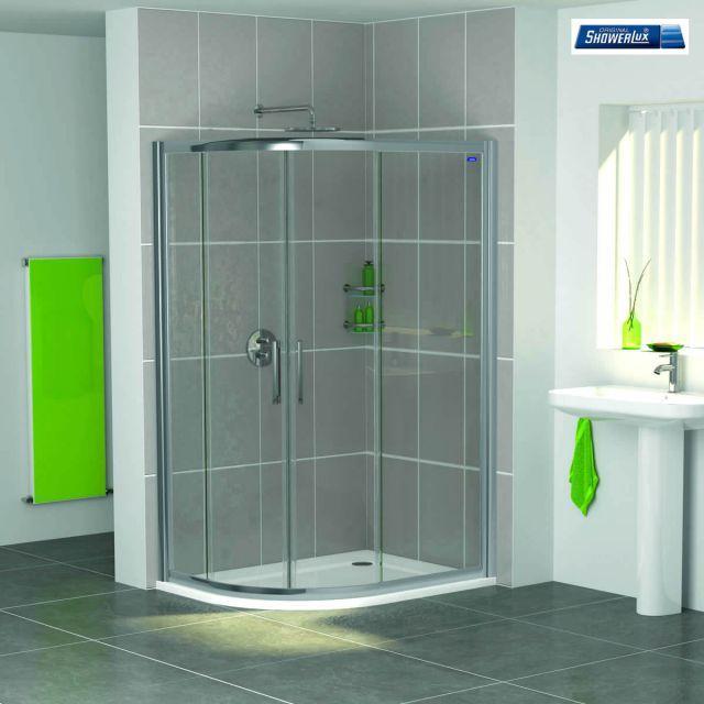 Showerlux Legacy Twin Door Offset Quadrant Shower Enclosure & Showerlux Legacy Twin Door Offset Quadrant Shower Enclosure | Ideas ...