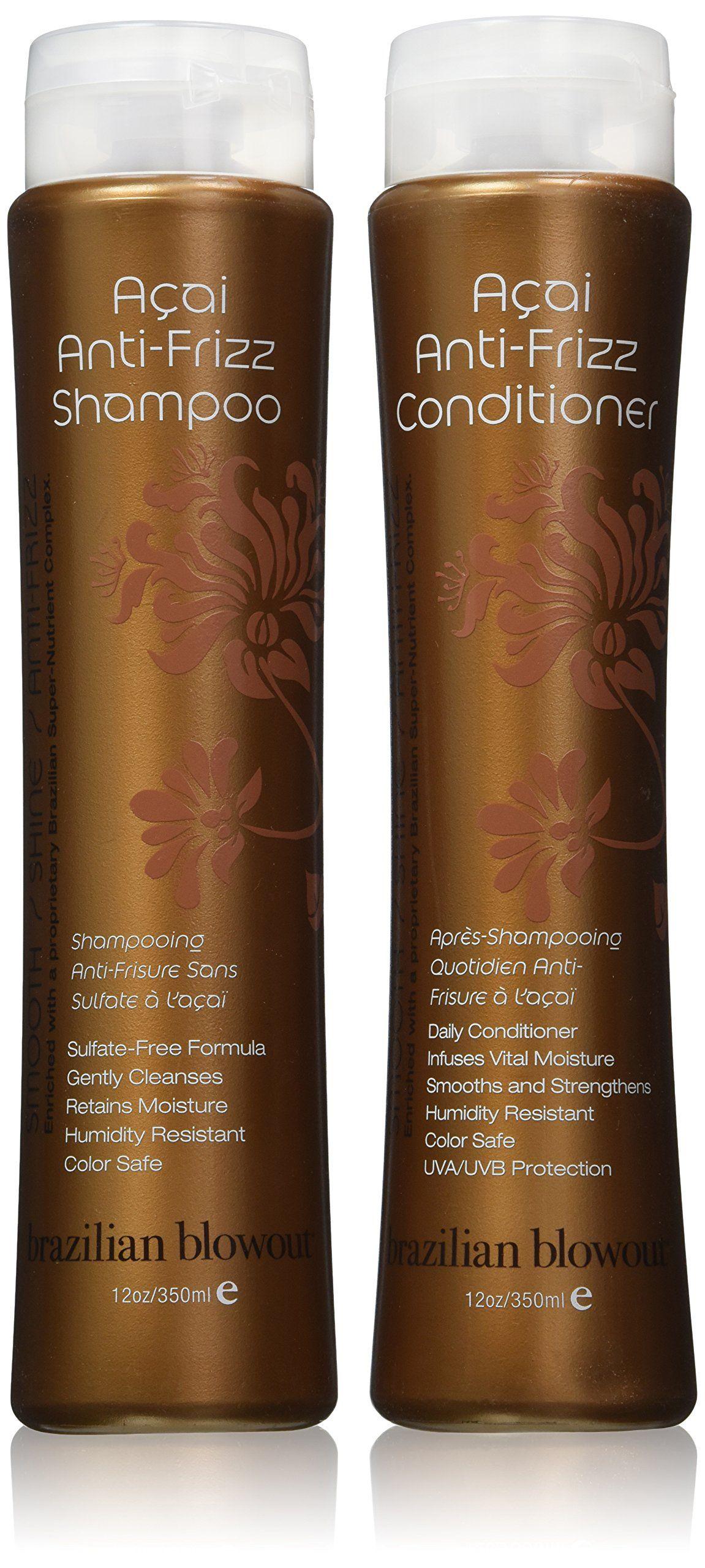 Brazilian Blowout Anti Frizz Shampoo Conditioner 12 Ounce Bottles