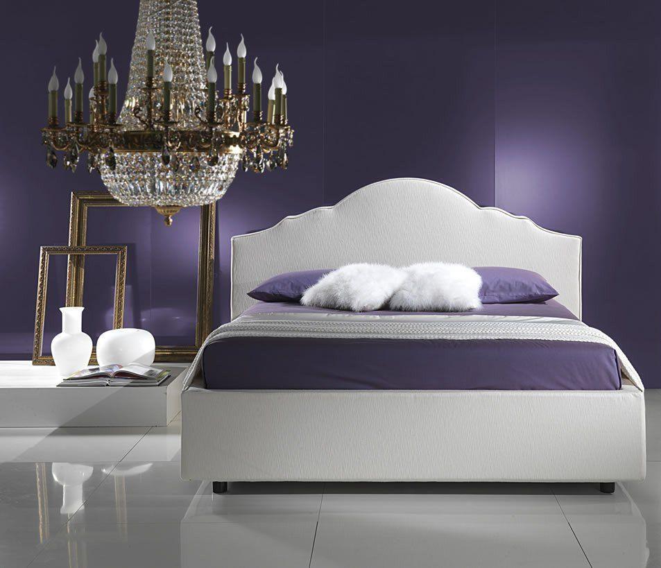 Blanco Y Morado #dormitorios #bedroom #relax
