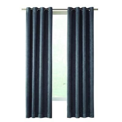 Superior Home Decorators Collection Slate Cooper Embossed Blackout Curtain, 50 In. W  X 84 In Photo Gallery