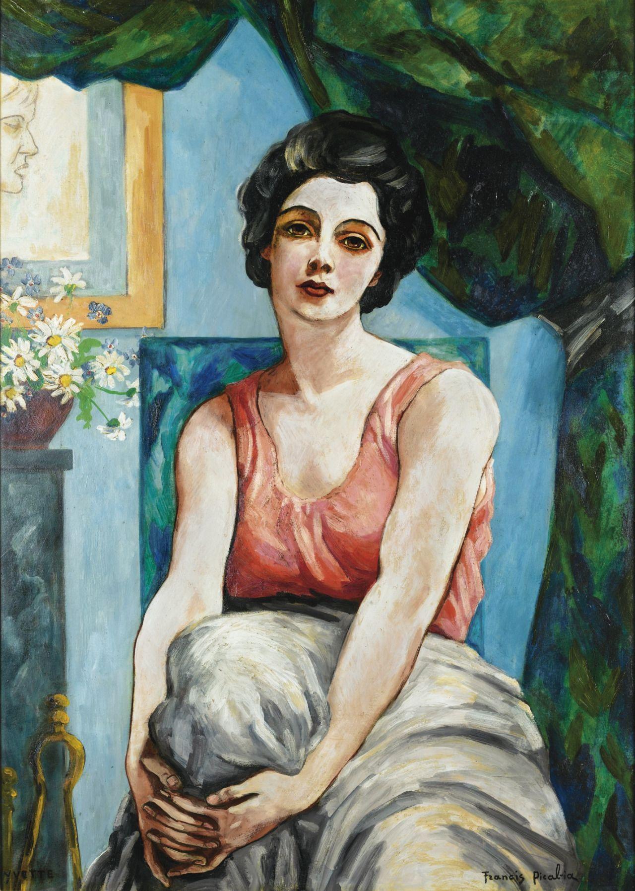 tiagoloureiroscrapbook: FRANCIS PICABIA, PORTRAIT D'YVETTE, 1942-43, oil on panel