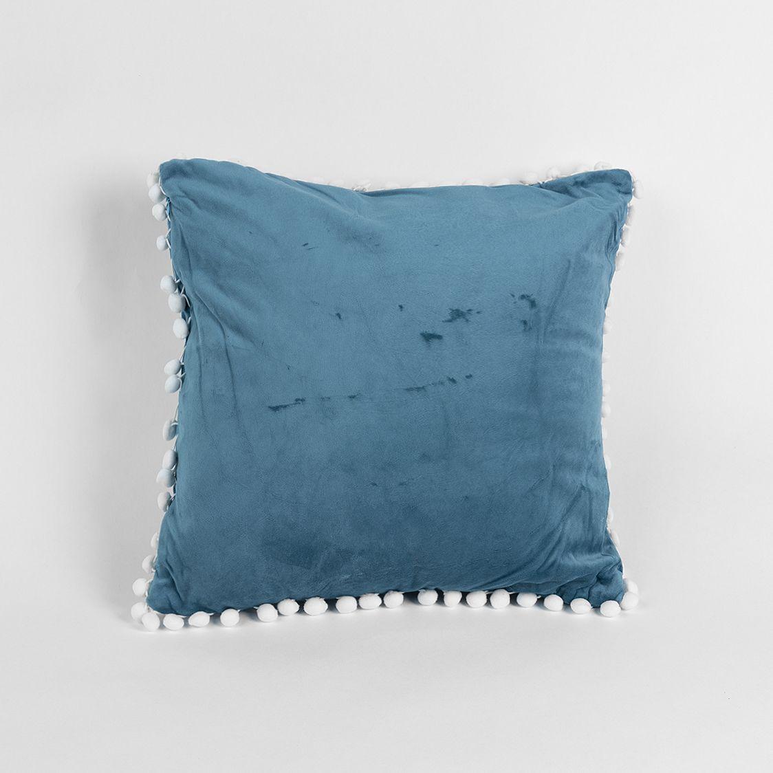 خدادية بحشوة مخملية لون تركواز Throw Pillows Pillows