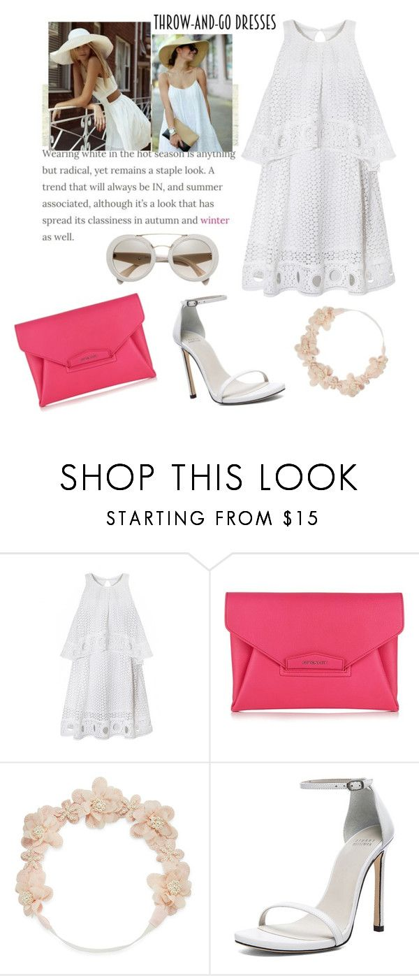 """""""Summer in white"""" by flablonde ❤ liked on Polyvore featuring Givenchy, Carole and Stuart Weitzman"""