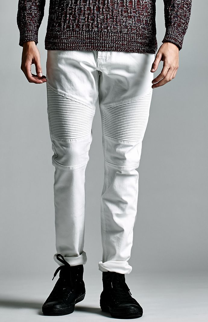 White Moto Stacked Skinny Jeans | *Pacific Sunwear* | Pinterest ...
