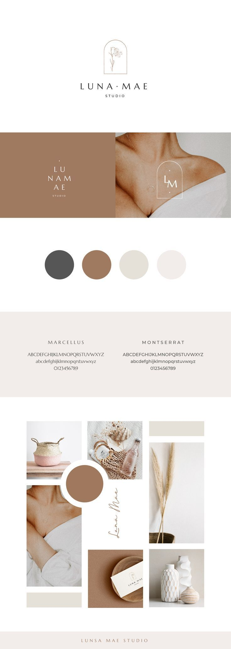 Brand Board Template | Mood Board Template | Branding | Canva Template | Canva Brand & Mood Board