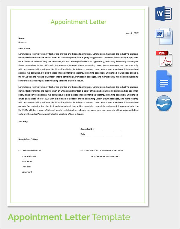 appointment letter bundle offer template free word pdf documents - business plan spreadsheet template excel