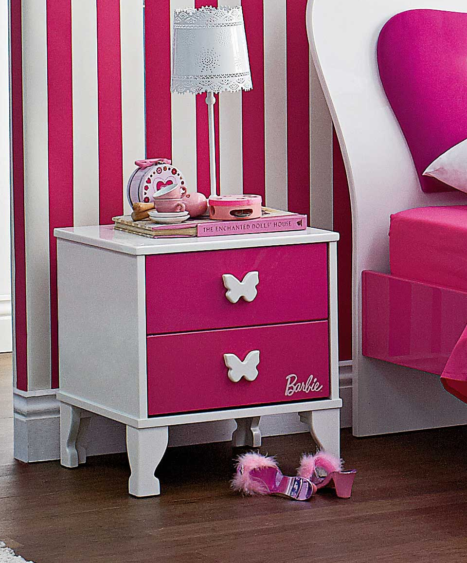 Barbie Bedside by Nero Furniture from Harvey Norman New