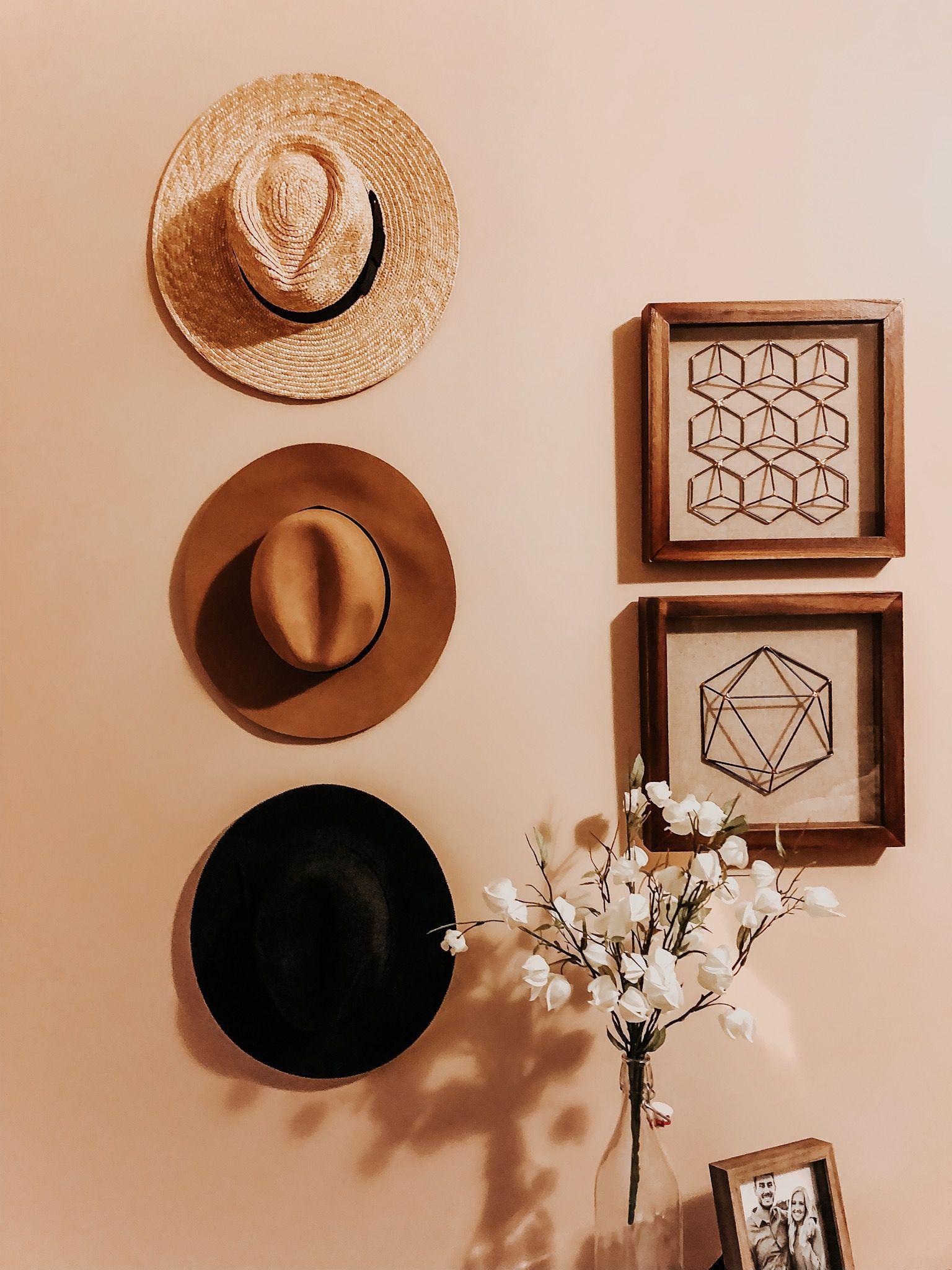 Boho Hat Wall Wall Hats Interior Design Bedroom Teenage