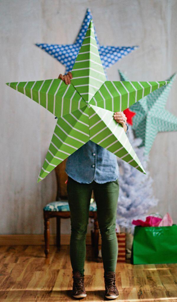 Gigantic Wall Stars Christmas Diy Christmas Decor Diy Christmas Crafts