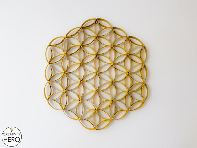 Wall Art How To Make Flower Of Life Out Of Toilet Paper Rolls 13 Toilet Paper Roll Wall Art Toilet Paper Roll Art Rolled Paper Art