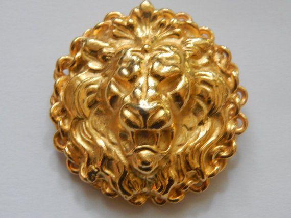 Roaring Lion Brooch