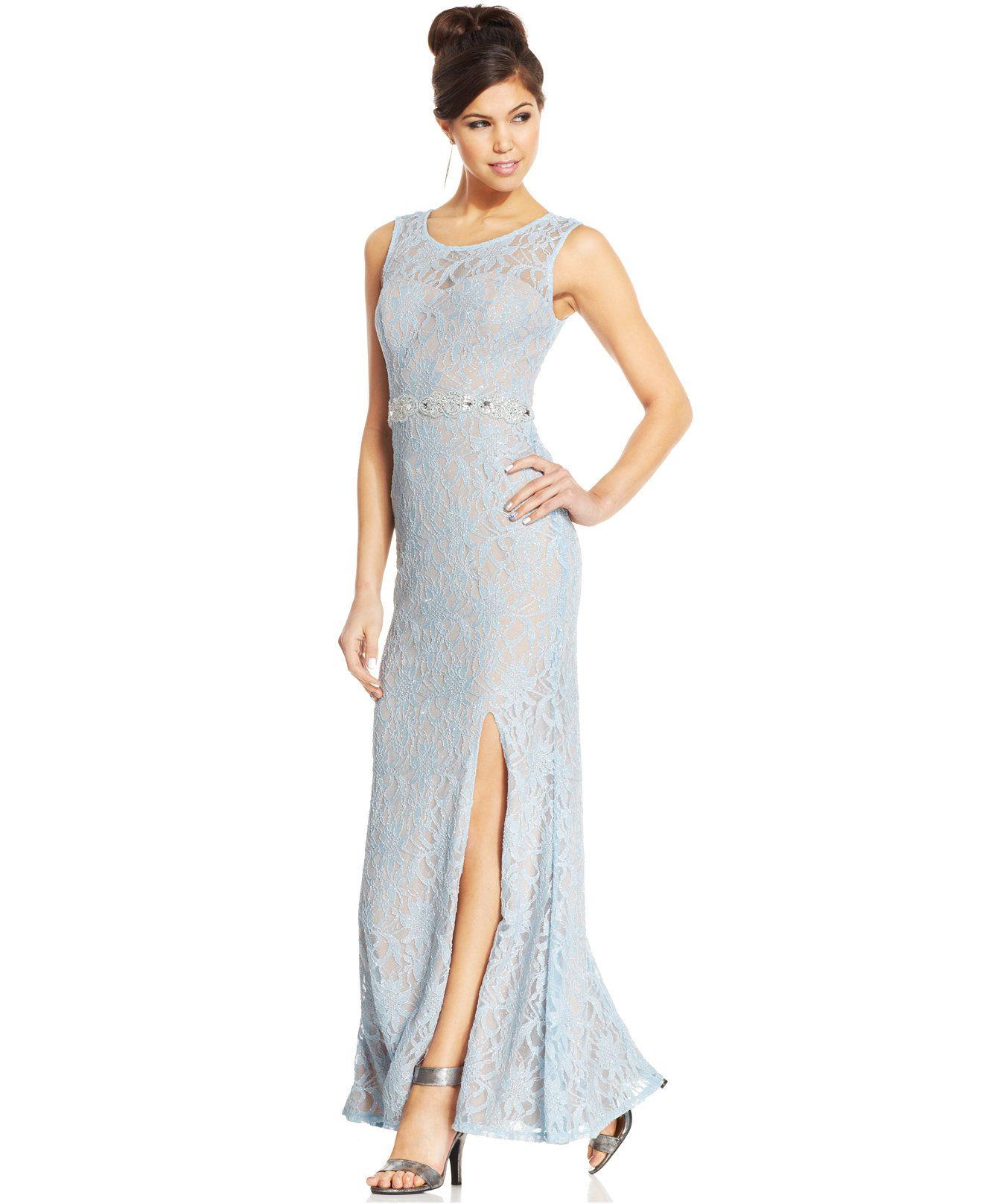 City Studios Juniors\' Lace Back-Cutout Dress - Juniors Shop All Prom ...