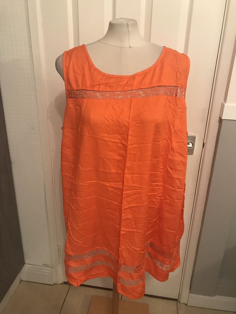 fca4756a5f7 Ladies Orange Lace Look Dressy Summer Style Dress Size 22 Label Be  fashion   clothing  shoes  accessories  womensclothing  dresses (ebay link)