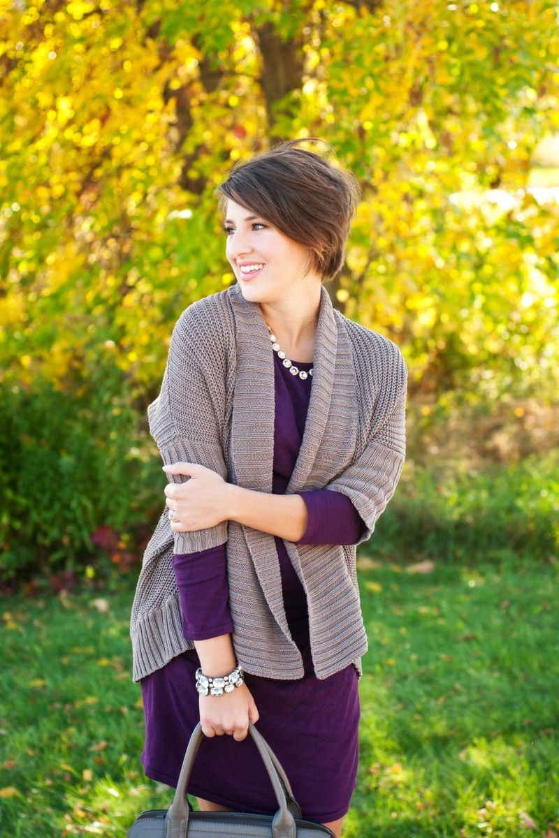 grey et al :: purple sweater dress. short hair. | grey et al ...