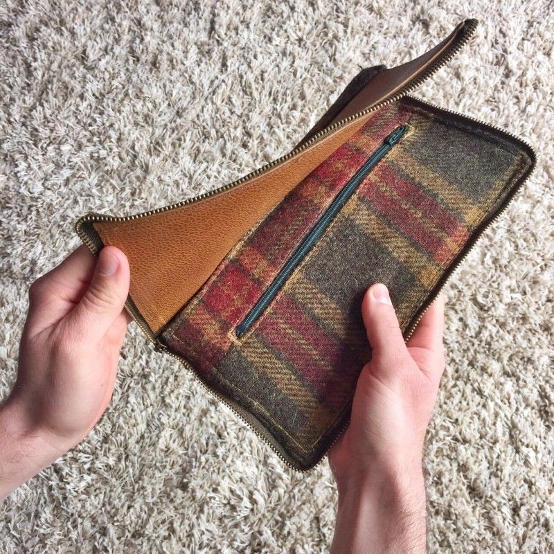 Leather and tweed diy travel documents holder do it yourself leather and tweed diy travel documents holder solutioingenieria Choice Image