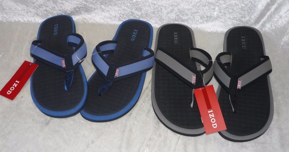 6e3750b71c7 Izod Mens Sandals Flip Flops Man Made Slide in sizes M L NEW 17.99 free us  shipping