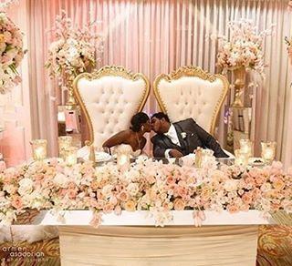 floral garland table design sweetheart tables wedding wedding rh pinterest com