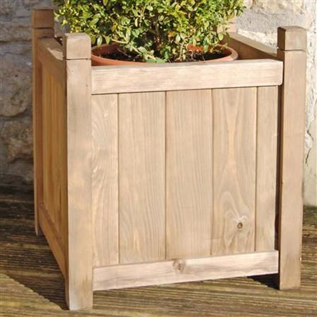 Nice Gardening Thyme Large Square Wooden Planter
