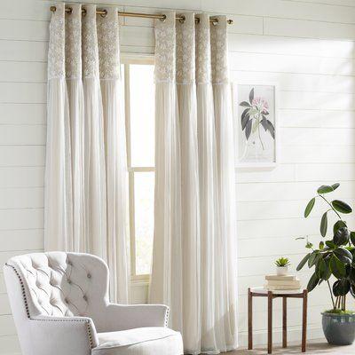3 Colors Solid Bedroom Modern Grommet Chenille Window 80/% Blackout Curtain Drape