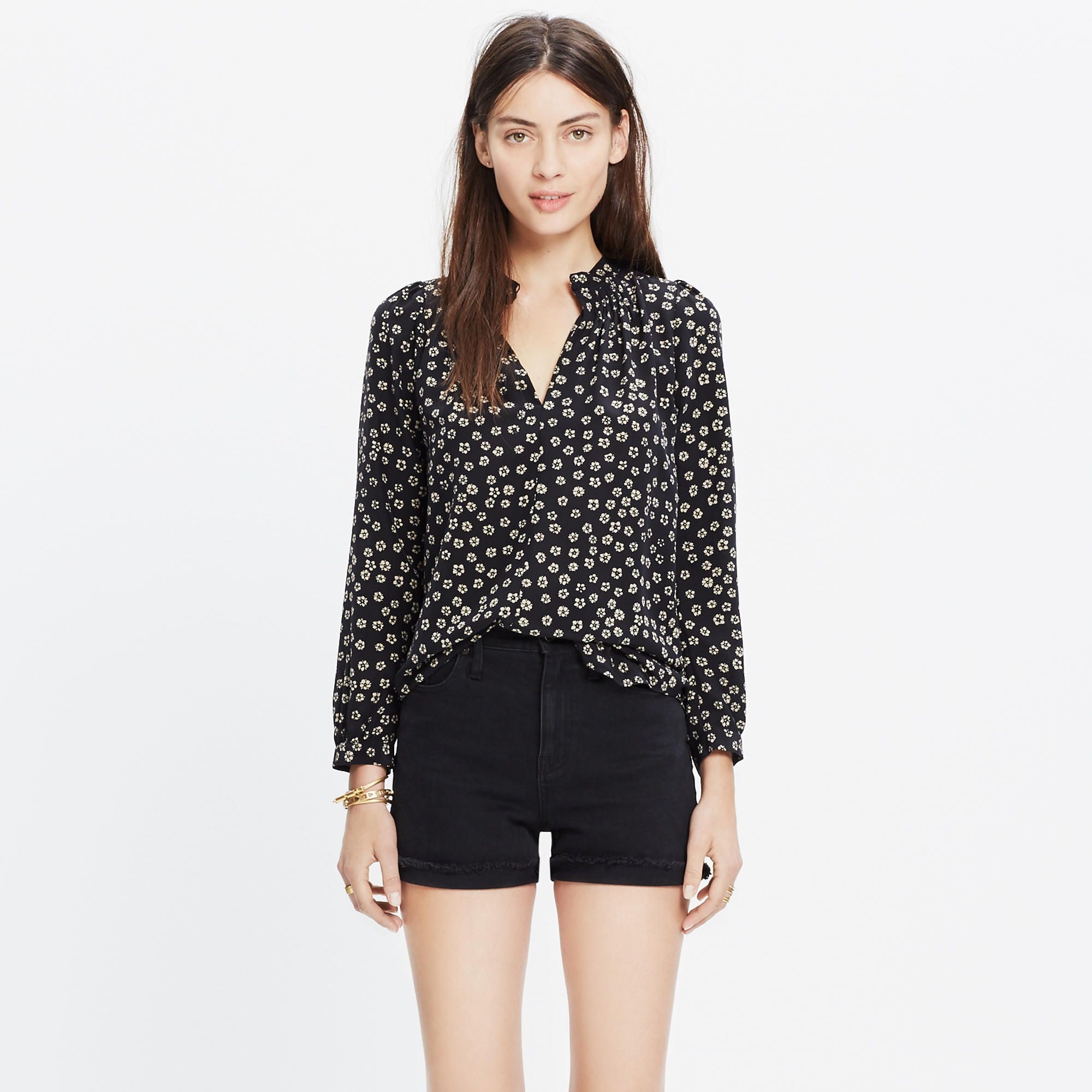 8632329cefd151 Silk Memory Blouse in Stencil Blossom : blouses | Madewell | Cute ...