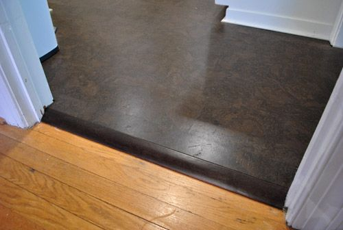 How To Add Floor Trim Transitions And Reducers Young House Love Cork Flooring Flooring Transition Flooring