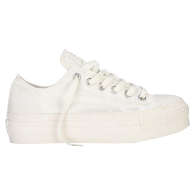 zapatillas converse blancas plataformas mujer