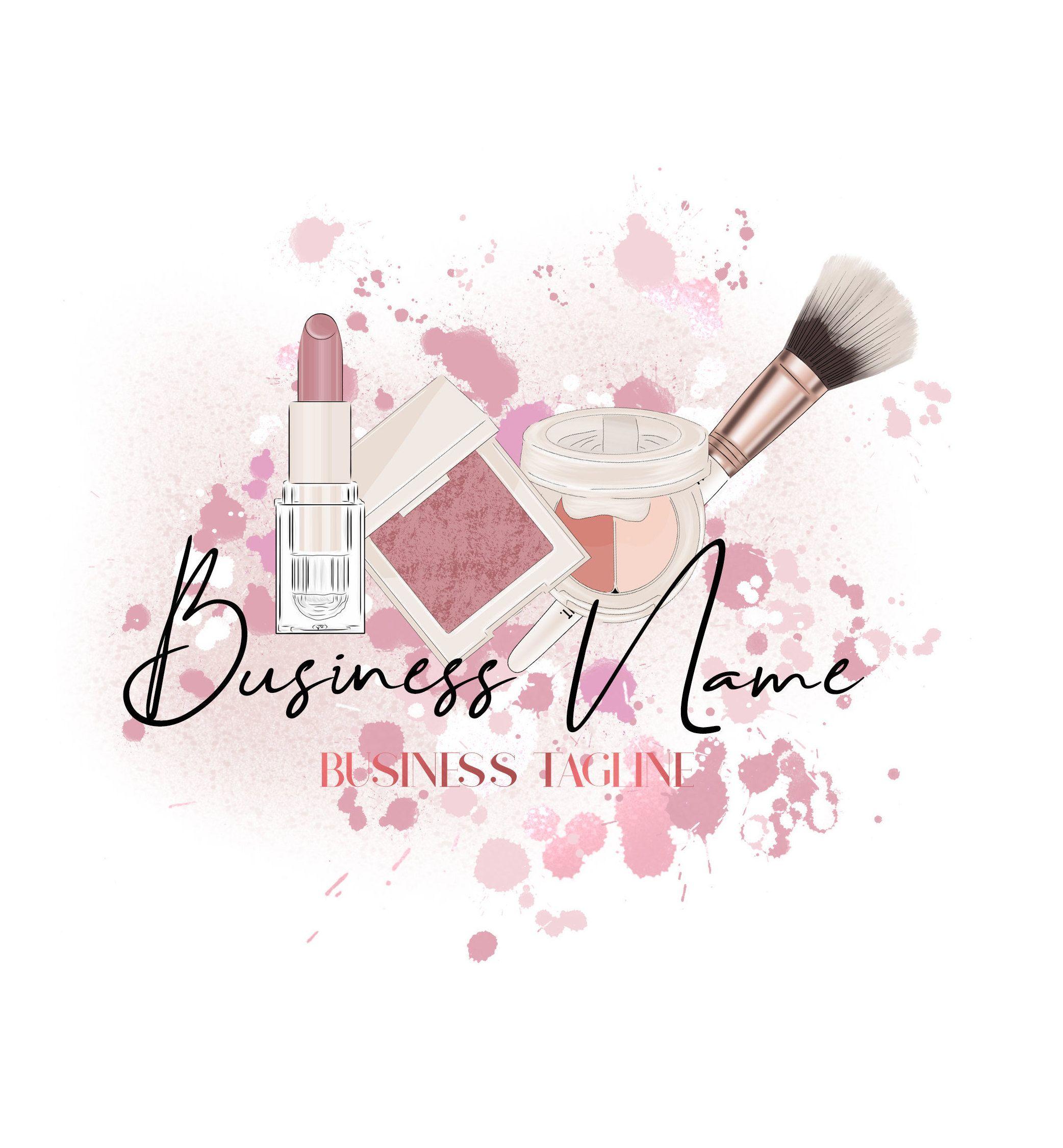Makeup Logo, Beauty Logo, Makeup Artist Logo, Cosmetics