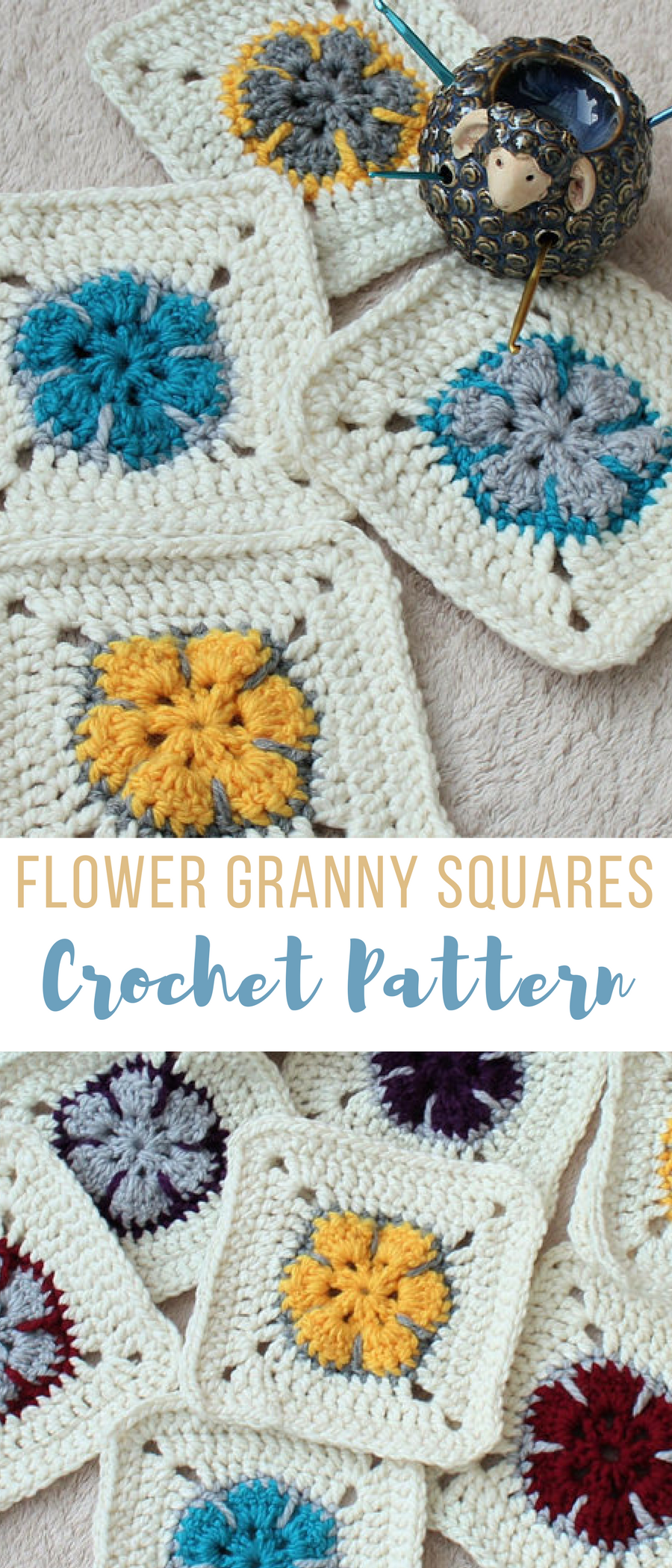 Easy Flower Granny Squares Crochet Pattern...would make an awesome ...