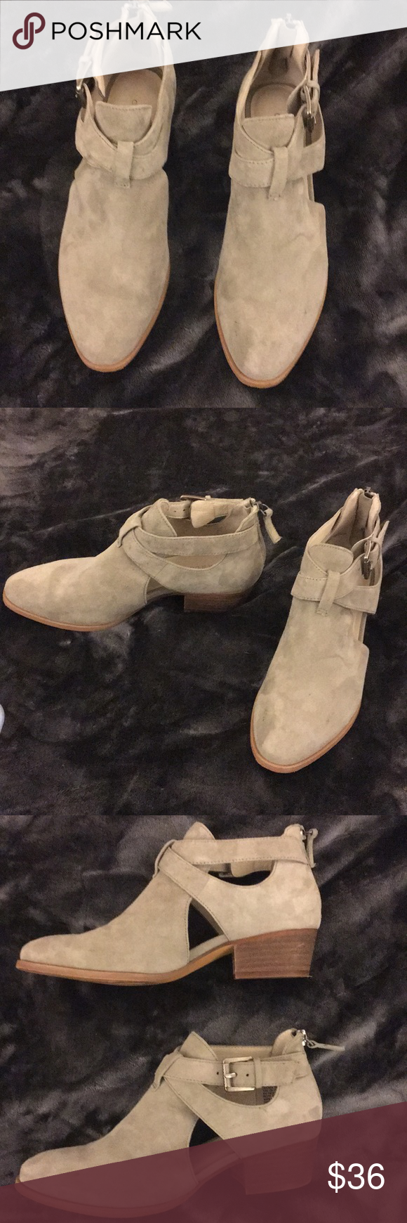 ebfd436d9b4 Caslon Tina Bootie Caslon Tine Bootie in Taupe. has buckle at the ankle. I
