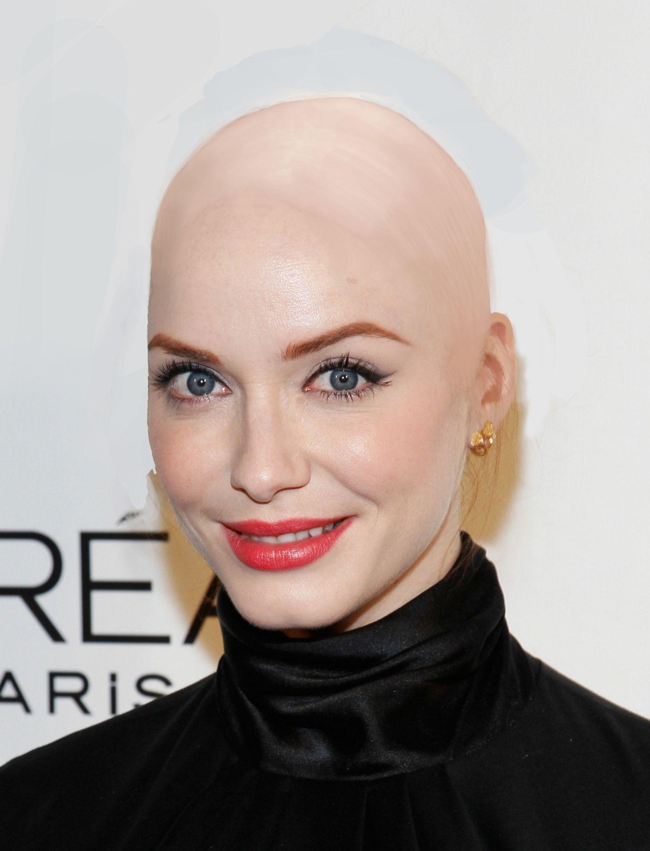 Celebrity shaved heads