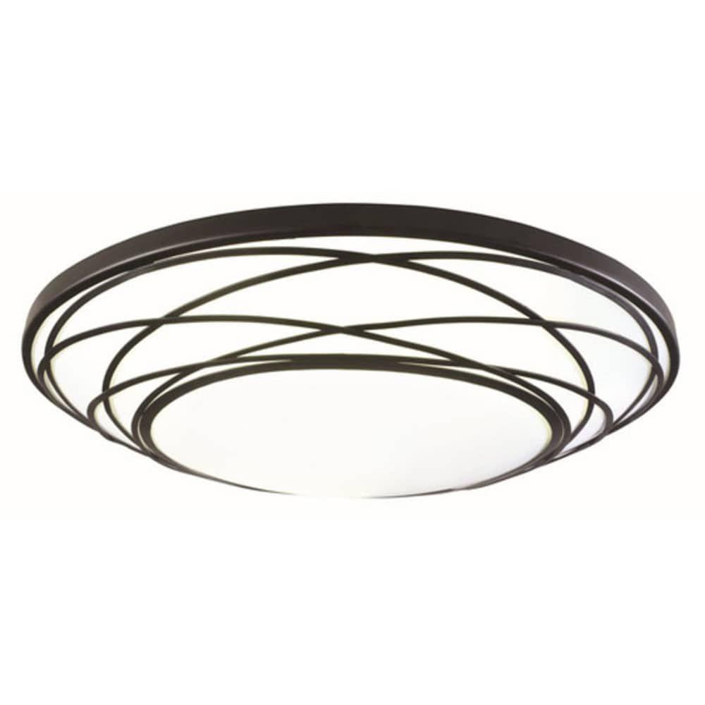 Portfolio 19.11-in Black Flush Mount Light | MXL306-LED32K840-2