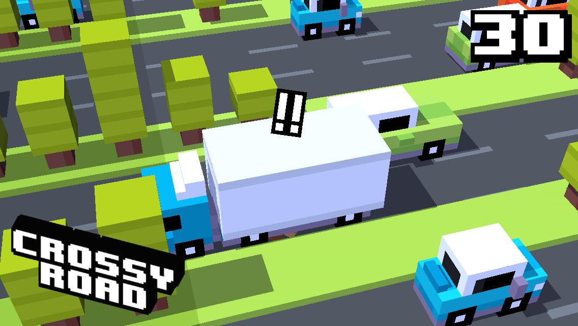 30 on #crossyroad. My top is 128.
