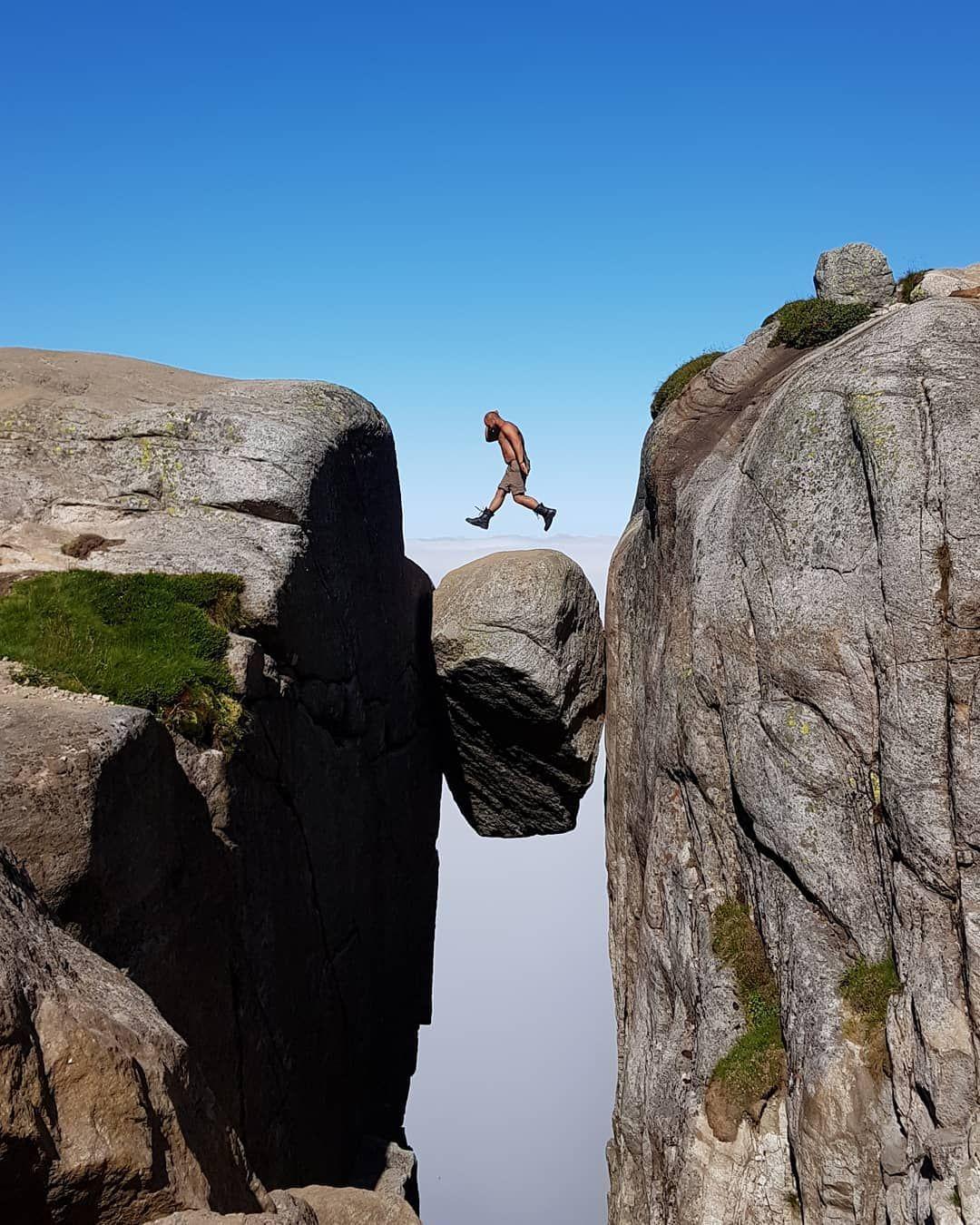 Eine Wanderung Zum Kjeragbolten In Norwegen Norwegen Fjord Und