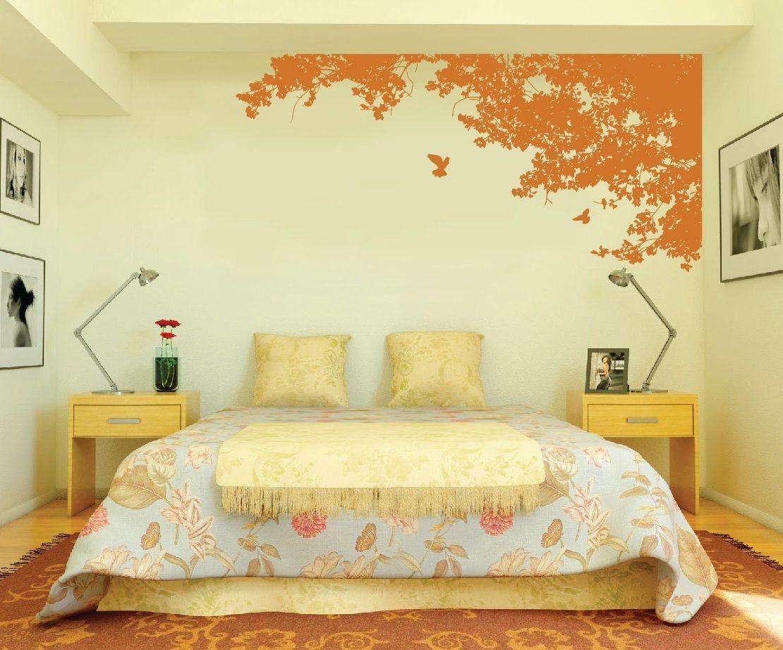 Large Wall Tree Top Nursery Decal Wall Art with Birds #1148 | Wall ...