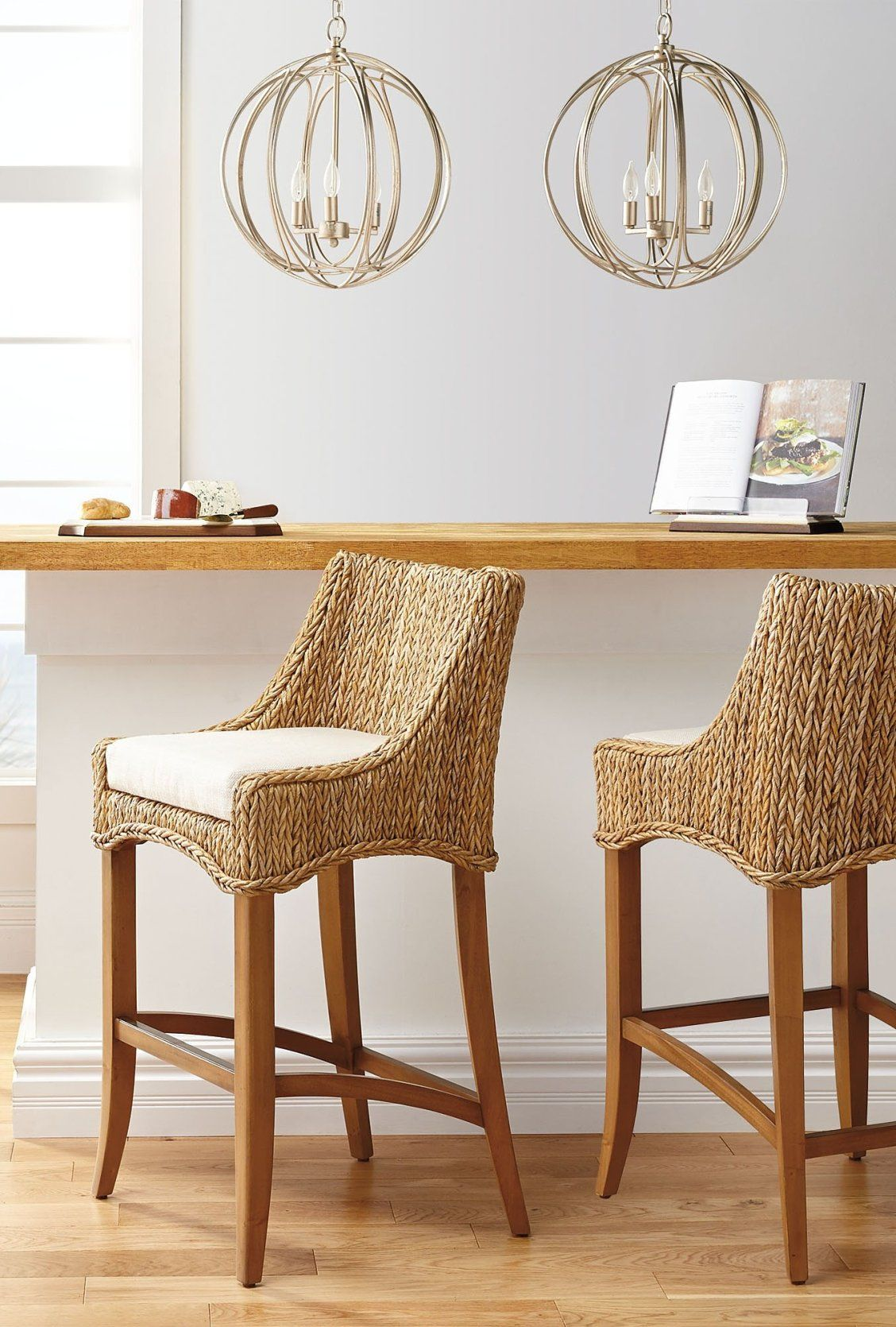 Our Calder Bar Height Bar Stool Adds A Taste Of Transitional And Coastal Styling To Your Kit Black Dining Room Chairs Rattan Bar Stools Chairs For Small Spaces